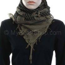 Khaki Arab Scarf (Shemagh)