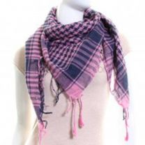 Pink and Navy (Shemagh) Arab Scarf