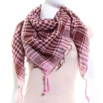 Pink Brown Arab Scarf