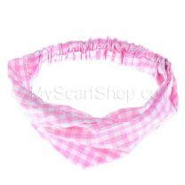 Headwrap Pink Check
