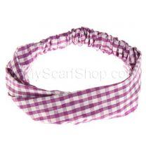 Purple Check Headwrap
