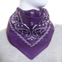 Paisley Cotton Bandana - Purple
