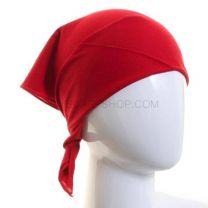 Plain Cotton Bandana - Red