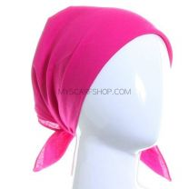 Plain Cotton Bandana - Fuchsia