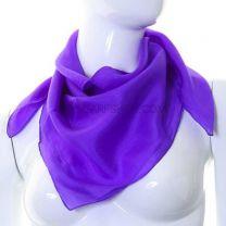 Purple Chakra Healing Silk Square Scarf