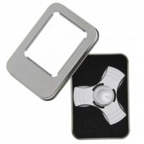 Fidget Spinner Metallic Silver 3-Arm Aluminium