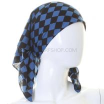 Checkered Blue Bandana
