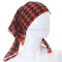 Checkered Red & Black Cotton Bandana