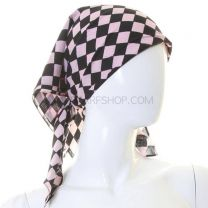 Checkered Pink Cotton Bandana