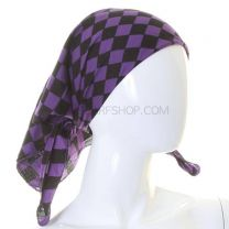 Checkered Purple Cotton Bandana