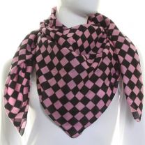 Pink Checkered Squared Scarf Cotton