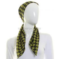 Green Checkered Squared Scarf Cotton