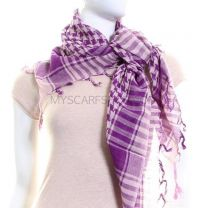 Pink & Purple (Shemagh) Arab Scarf