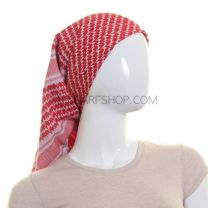 Red and White Arab Scarf (Shemagh)