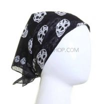 Black and White Skulls Bandana