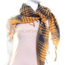 Yellow & Navy (Shemagh) Arab Scarf