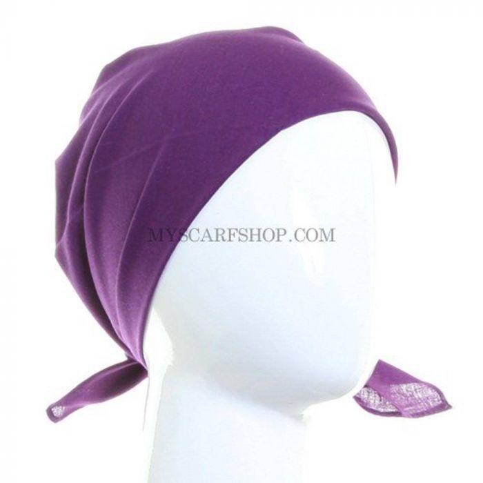 plain PURPLE cotton bandana headscarf
