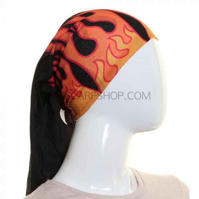 Welders Bandanna Skullcap Motorcyclist DOORAGS,Dragons and Red Flames Sports Chemo Patient